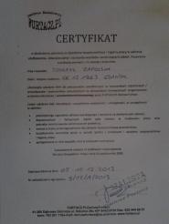 Certyfikat Eternit- Azbest