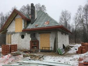Dach w ołatowany. 2 dzień prac