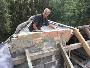 attyka komin więźba dachowa
