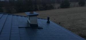 Iryd bacha grafitowa RAL 7016 ocieplenie pianką PIR dach dachy